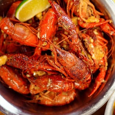 juicy houston crawfish from crawfish cafe